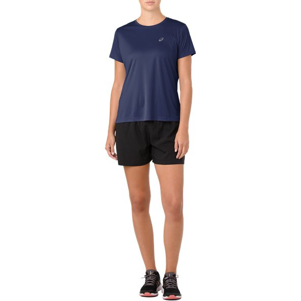 Asics Silver Short Sleeve Women' T-Shirt, Indigo Blue