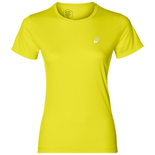 Asics Silver SS Women' Running T-Shirt, Yellow