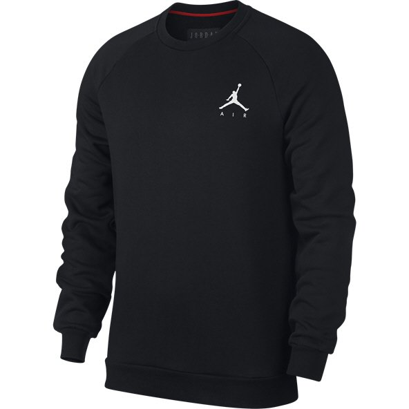 Nike Jordan Jump Men's Fleece Crew Sweater  Black / White