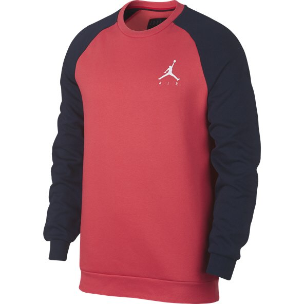 Nike Jordan Jump Men's Fleece Crew Sweater Ember Glw