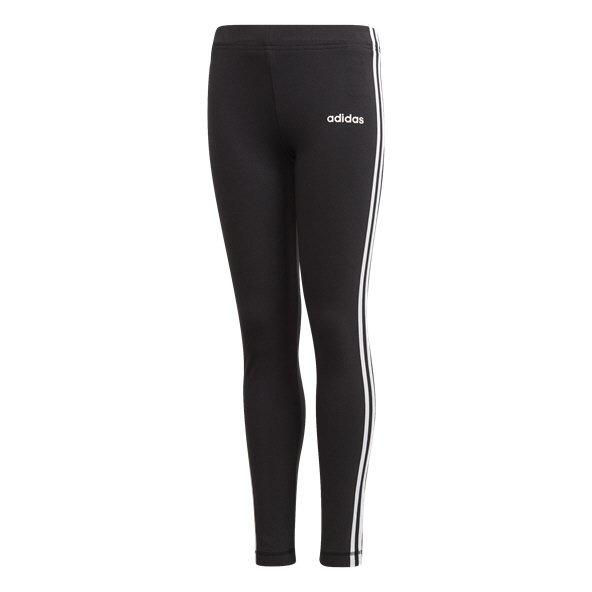 adidas Essential 3 Stripe Girls' Tight Black/White