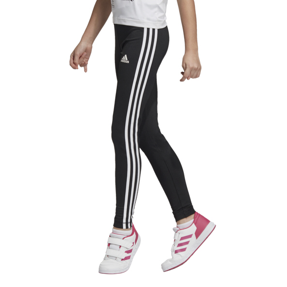 adidas Essential 3 Stripe Girls' Tight, Black