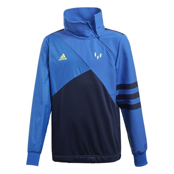 adidas Messi Boys' Side ½-Zip Top, Blue