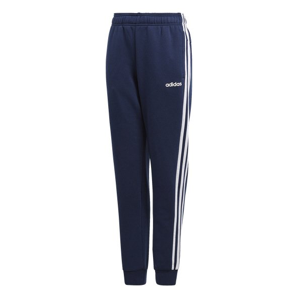 adidas Essential 3 Stripe Boys Fleece Pant Navy/White