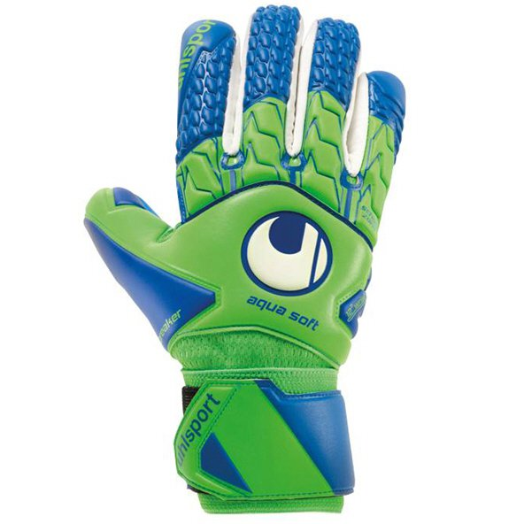 Uhlsport Aquasoft HN Windbreaker Gloves, Green