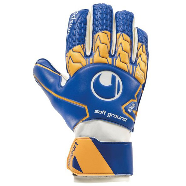 Uhlsport Soft RF Gloves Navy/Orange