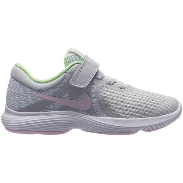 Nike Revolution 4 Junior Girls' Trainer, Platinum