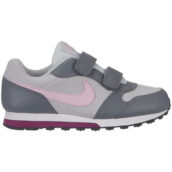Nike MD Runner 2 Junior Girls' Trainer, Platinum