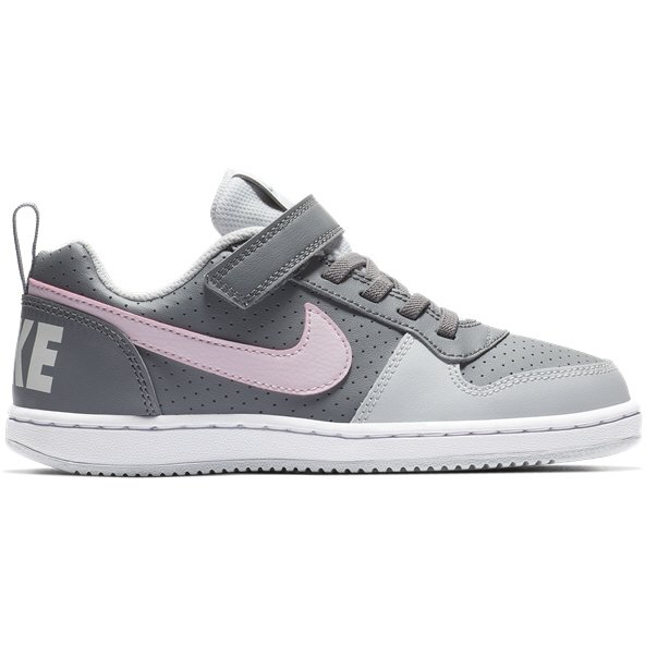 Nike Court Borough Low Junior Girls' Trainer, Grey