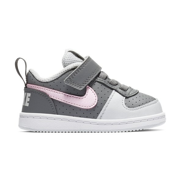 Nike Court Borough Low Infant Girls' Trainer, Grey