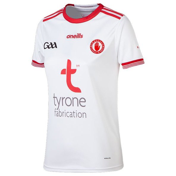 O'Neills Tyrone 2018 Women's Home Jersey, White
