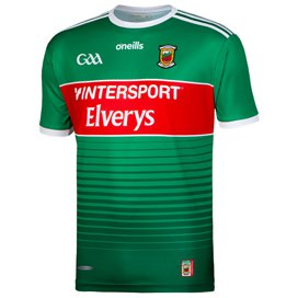 O'Neills Mayo 2019 Player Fit Home Jersey, Green