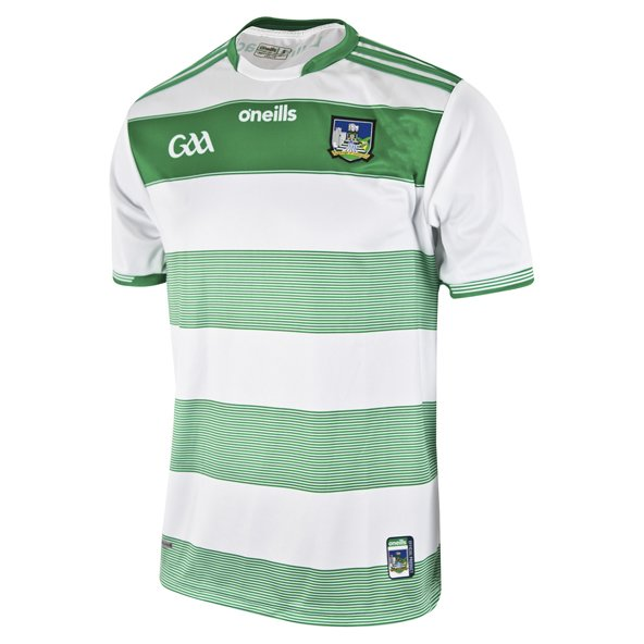 O'Neills Limerick 2019 Kids' Home Goalkeeper Jersey, White