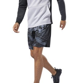 Reebok Workout Board Mens Shorts Black