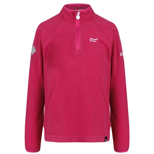 Regatta Loco ¼ Zip Girls' Fleece Jacket, Dark Cerise