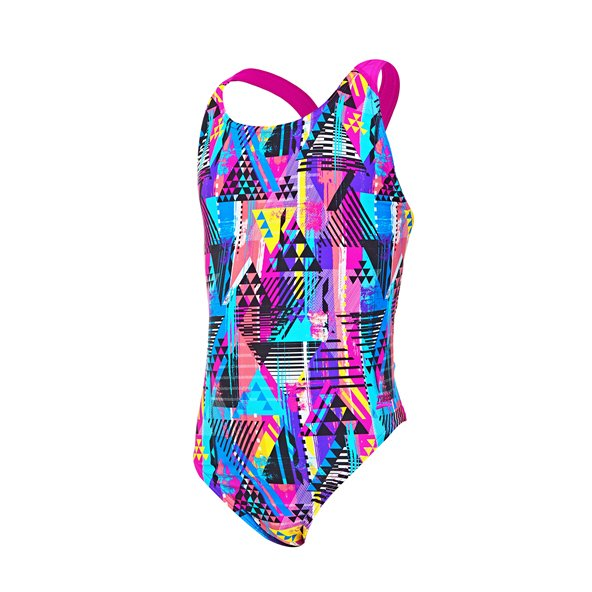 Zoggs® Labrynth Flyback Girls' Swimsuit Black