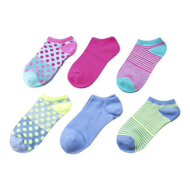Sofsole Lite Women's 6pk No Show Sock Stripe