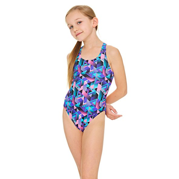 Zoggs Kitch Chaos Rowleeback Girls' Swimsuit, Purple