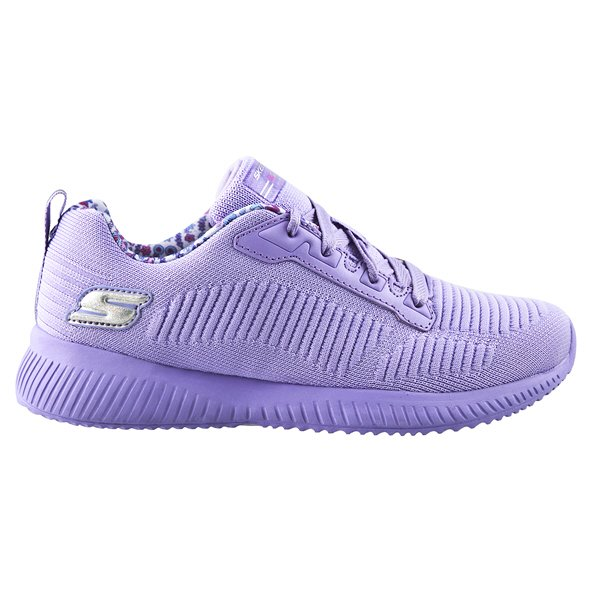 Skechers Lil' Bobs Squad Girls' Trainer, Lavender