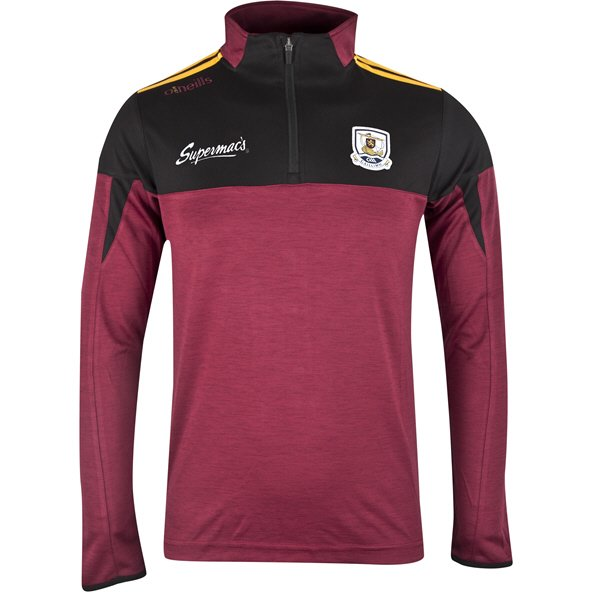 O'Neills Galway Cronin Kids' ½ Zip Mid Layer Top, Maroon