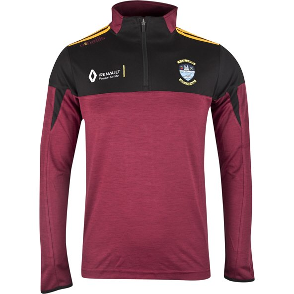 O'Neills Westmeath Cronin Kids' ½ Zip Mid Layer Top, Maroon