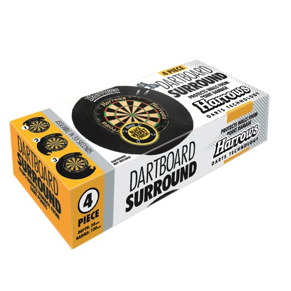Harrows 4 Piece Dartboard Surround, Black