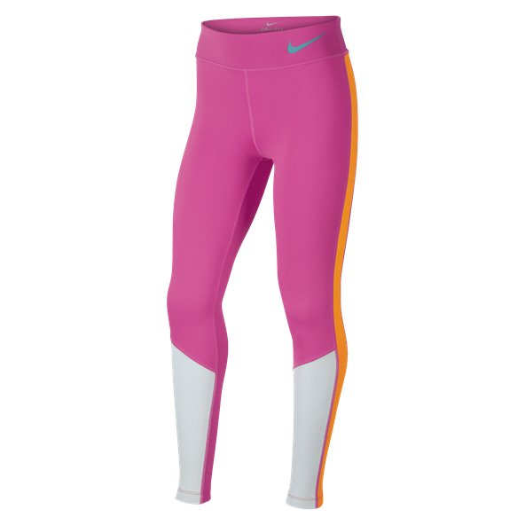 Nike Trophy Colourblock Girls' Tight, Pink