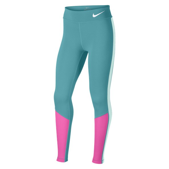 Nike Trophy Colourblock Girls Tight, Green