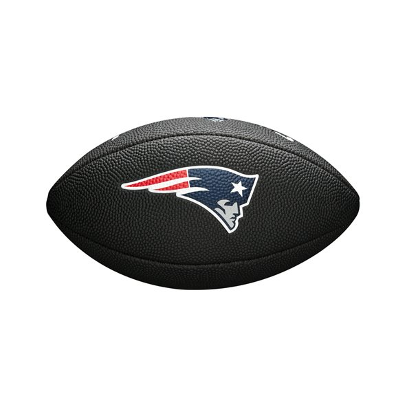 Wilson NFL Logo Mini New England Patriots Football, Black