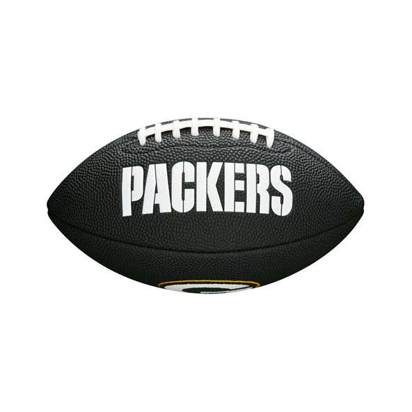 Wilson NFL Logo Mini Green Bay Packers Football, Black