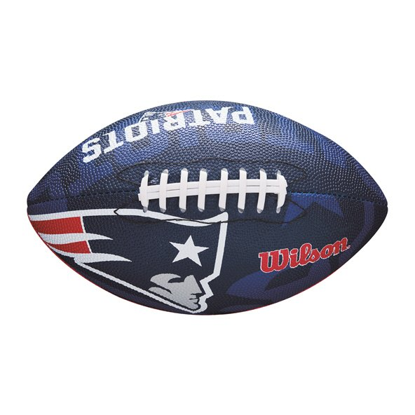 Wilson NFL Logo Junior New England Patriots Football, Blue