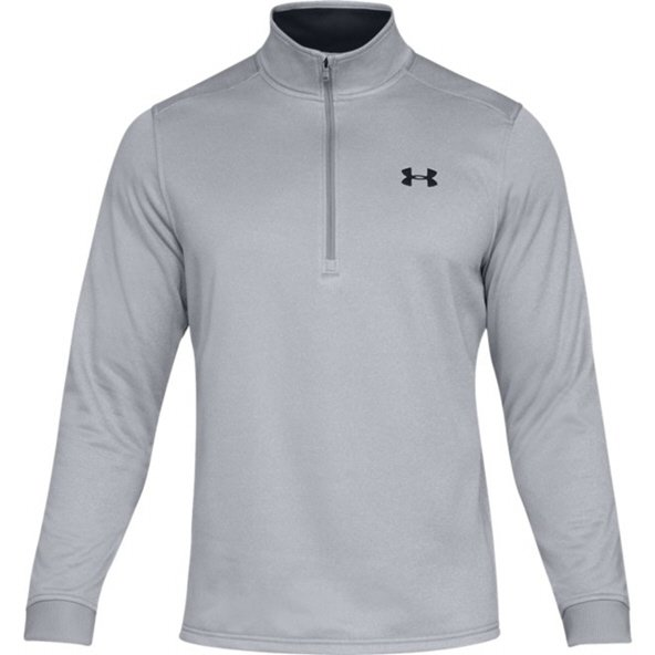 UA Armour Fleece Half Zip Men's Top Grey