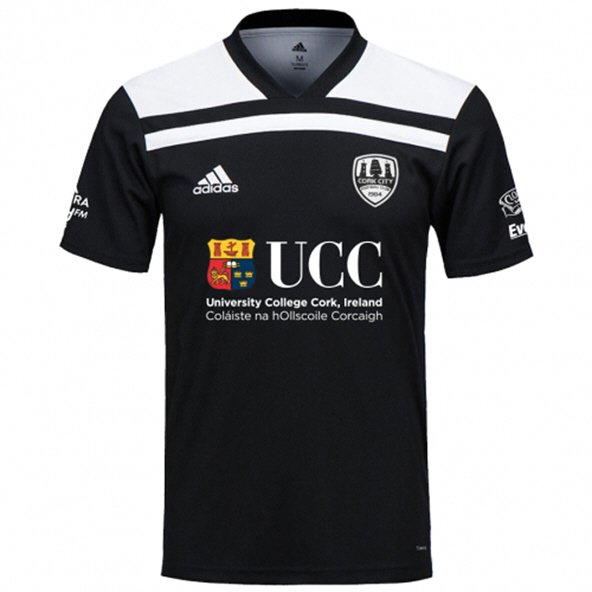 adidas Cork City 2019 Kids' Away Jersey, Black