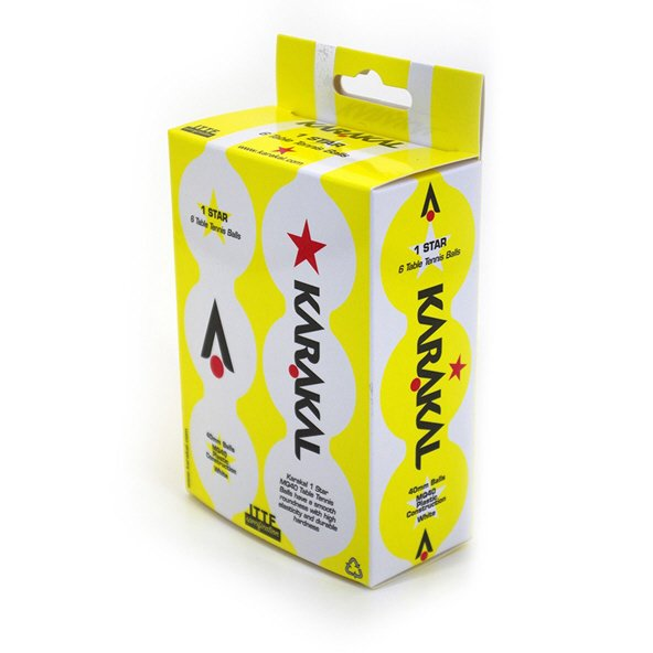 Karakal 1 Star 6 Pack Table Tennis Ball
