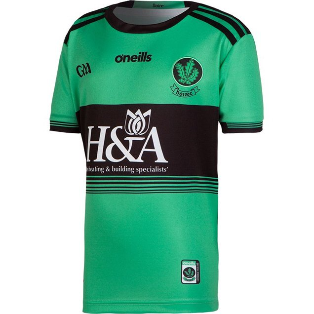 O'Neills Derry 2019 Kids' Home GK Jersey, Green