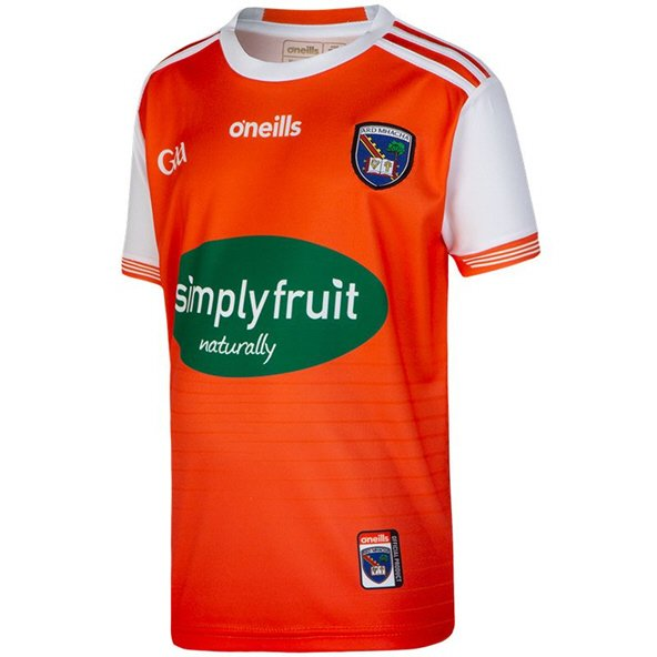 O'Neills Armagh 2019 Kids' Home Jersey, Orange