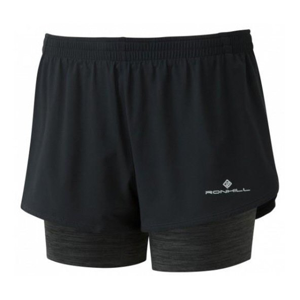 Ronhill Stride Twin Wmn Shorts Black