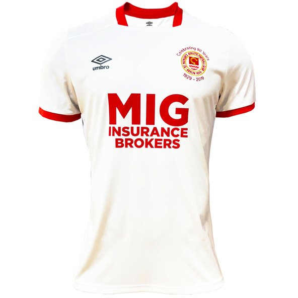Umbro St. Patrick's Athletic 2019 Kids' Away Jersey, White