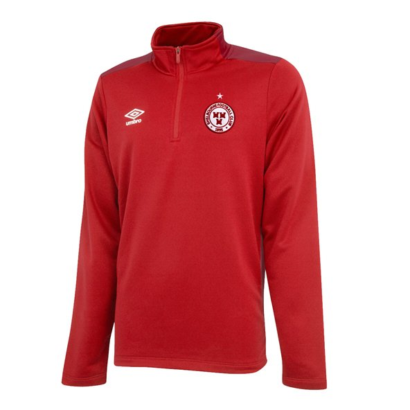 Umbro Shelbourne FC 2019 Kids' ¼ Zip Top, Red