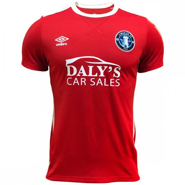Umbro Limerick FC 2019 Kids' Away Jersey, Red