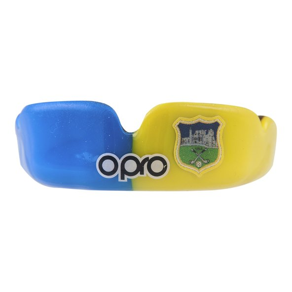 Opro Tipperary Power Fit Senior Mouthguard, Blue/Yellow