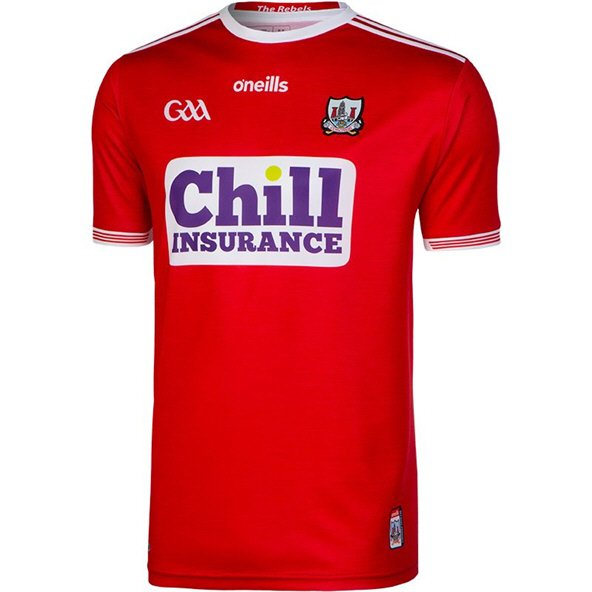O'Neills Cork 2019 Player Fit Home Jersey, Red