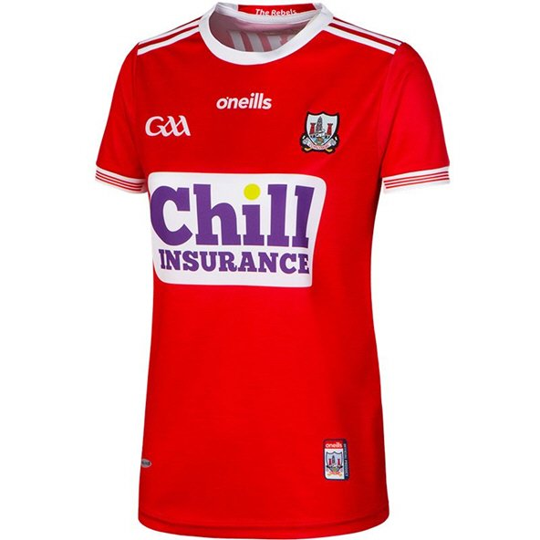O'Neills Cork 2019 Women's Fit Home Jersey, Red