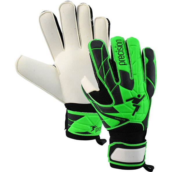 Precision Fusion X 3D Kids' Goalkeeper Glove, Green