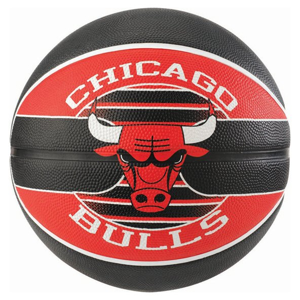 Spalding Chicago Bulls Team Basketball - Size 7, Red
