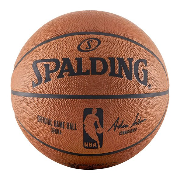 Spalding Official NBA Game Ball Basketball - Size 7, Orange