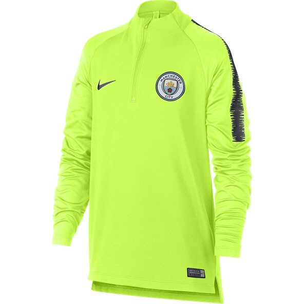 Nike Man City 2019 Kids' Squad Drill Top, Yellow