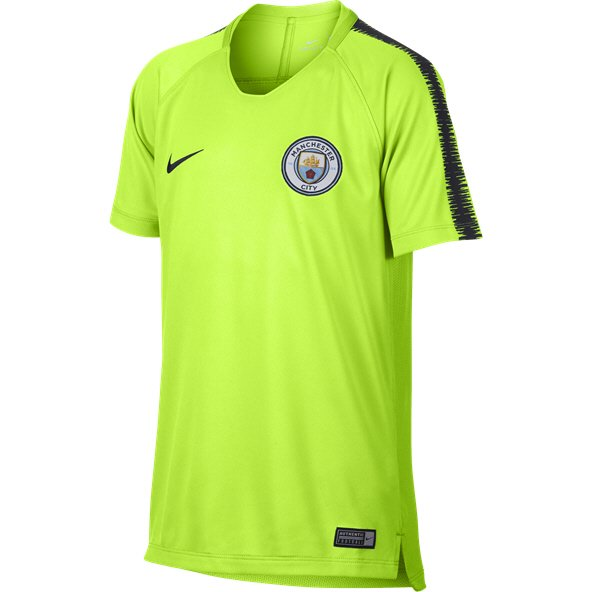 Nike Man City 2019 Kids' Squad T-Shirt, Yellow