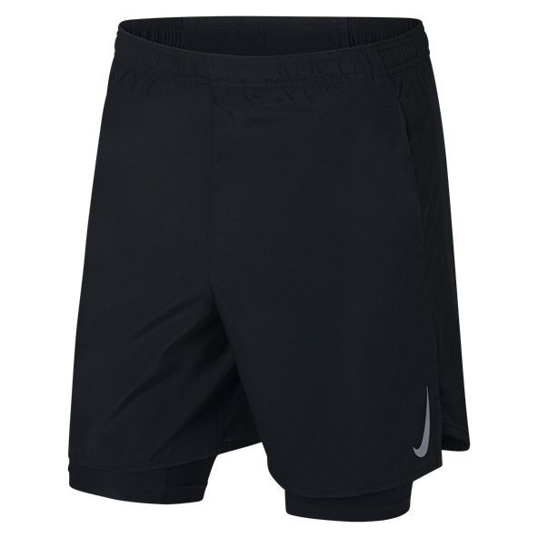 "Nike Dry 2-in-1 Challenger 7"" Men's Running Short, Black"