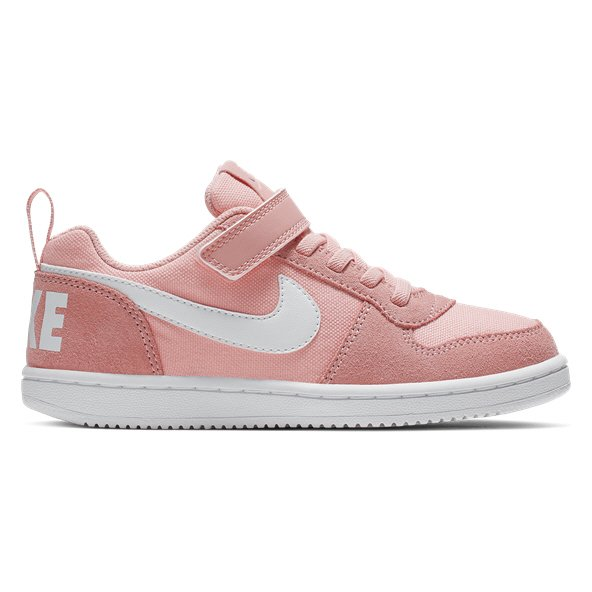 Nike Court Borough Junior Girls' Trainer Coral/White